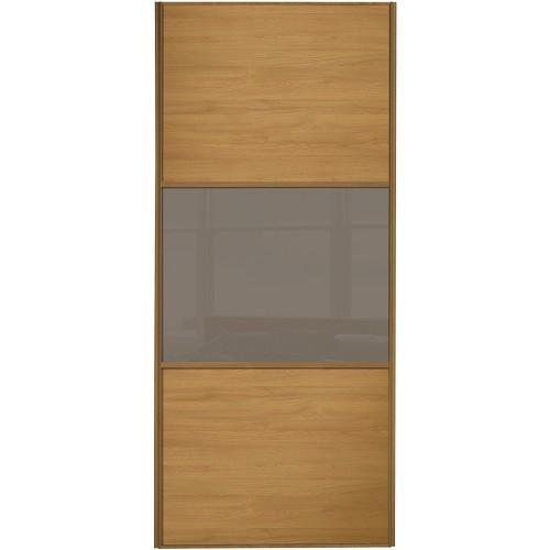 Classic 3 Panel - Oak Cappuccino Glass Oak Frame