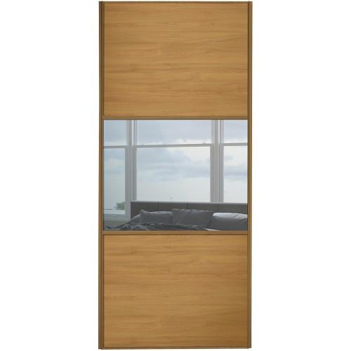 Classic 3 Panel - Oak Mirror Oak Frame