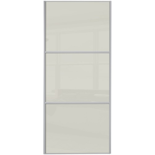 Classic 3 Panel - Arctic White Glass Silver Frame