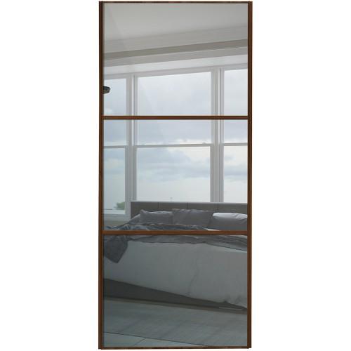 Classic 3 Panel - Mirror Walnut Frame