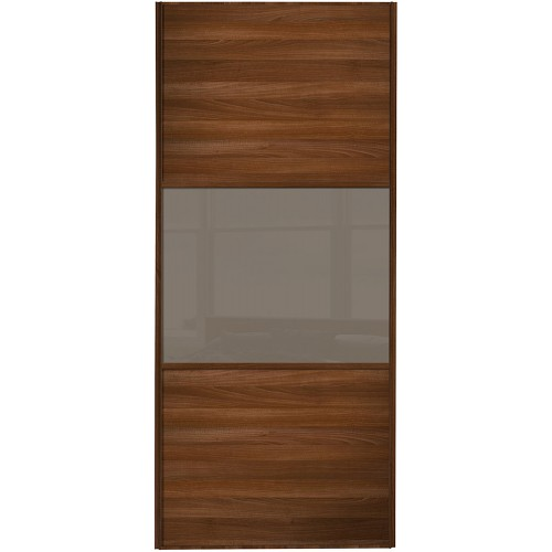 Classic 3 Panel - Walnut Cappuccino Glass Walnut Frame