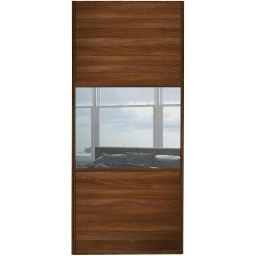Classic 3 Panel - Walnut Mirror Walnut Frame