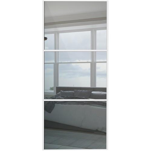 Classic 3 Panel - Mirror White Frame