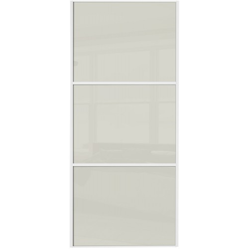 Classic 3 Panel - Arctic White Glass White Frame