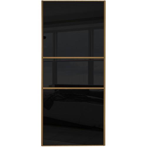 Classic Fineline - Black Glass Oak Frame