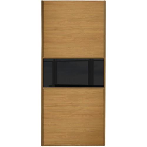 Classic Fineline - Oak Black Glass Oak Frame