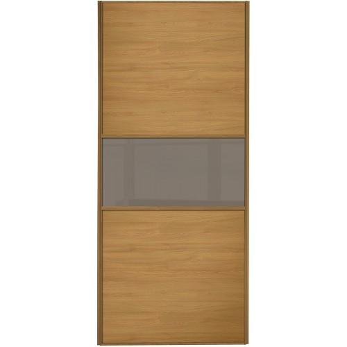 Classic Fineline - Oak Cappuccino Glass Oak Frame
