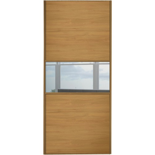 Classic Fineline - Oak Mirror Oak Frame  sc 1 st  Cornes DIY & Classic Fineline Sliding Wardobe Doors from Cornes DIY Glasgow