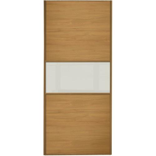 Classic Fineline - Oak Arctic White Glass Oak Frame