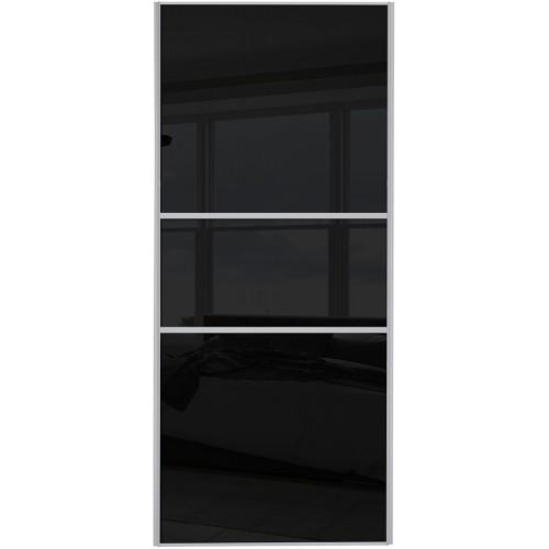 Classic Fineline - Black Glass Silver Frame