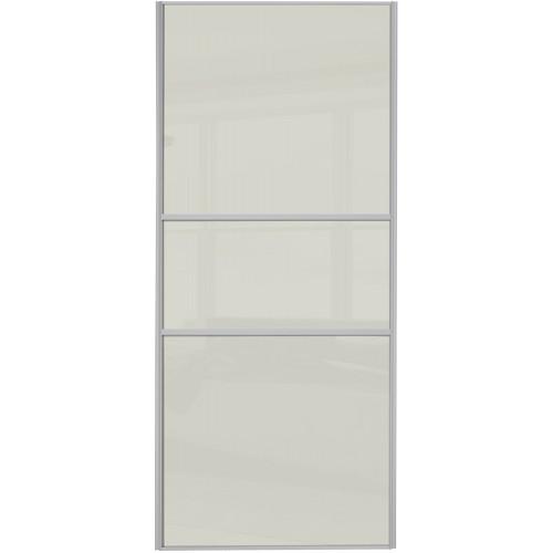 Classic Fineline - Arctic White Glass Oak Frame