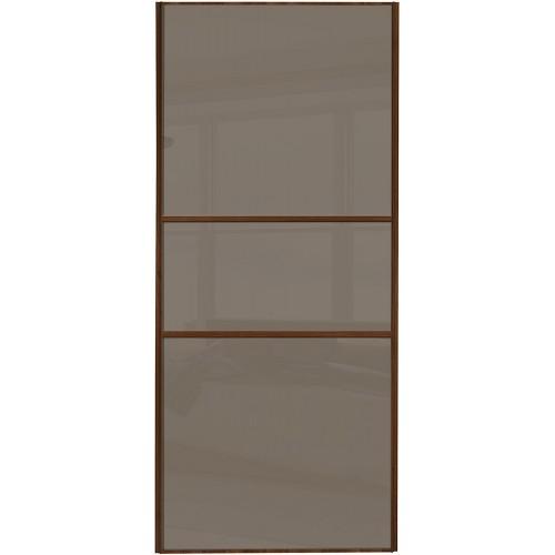Classic Fineline - Cappuccino Glass Walnut Frame