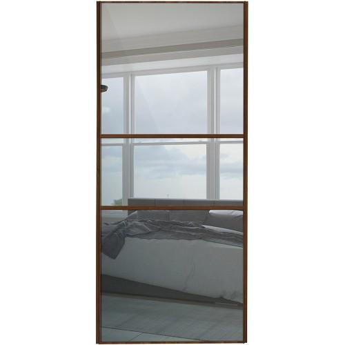 Classic Fineline - Mirror Walnut Frame  sc 1 st  Cornes DIY & Classic Fineline Sliding Wardobe Doors from Cornes DIY Glasgow