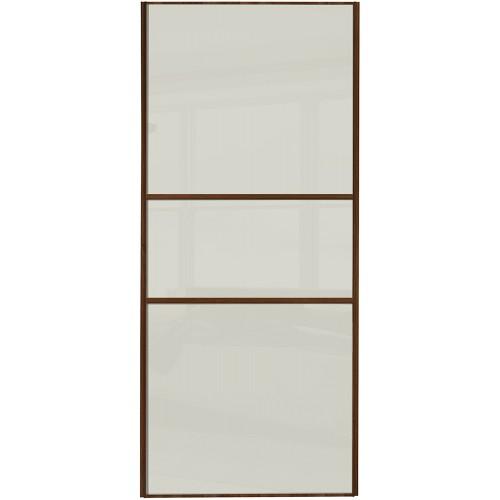 Classic Fineline - Arctic White Glass Walnut Frame
