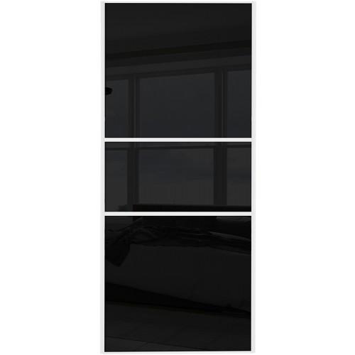 Classic Fineline - Black Glass White Frame
