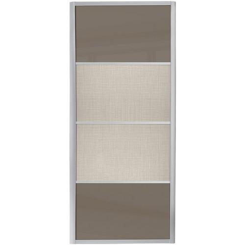 Ellipse 4 Panel - Cappuccino Glass Linen