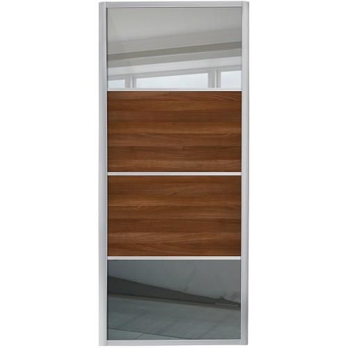 Ellipse 4 Panel - MIrror Walnut