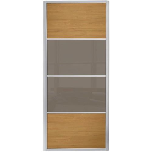 Ellipse 4 Panel - Oak Cappuccino Glass