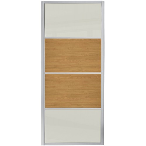 Ellipse 4 Panel - Arctic White Glass Oak
