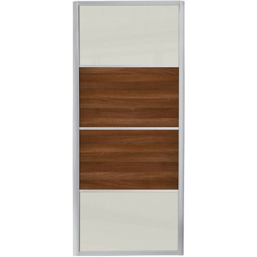 Ellipse 4 Panel - Soft White Glass Walnut