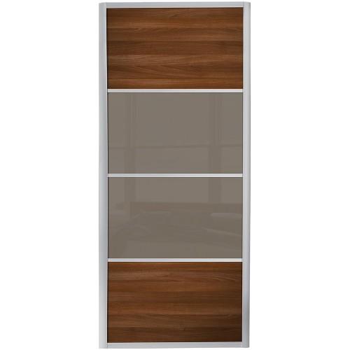 Ellipse 4 Panel - Walnut Cappuccino Glass