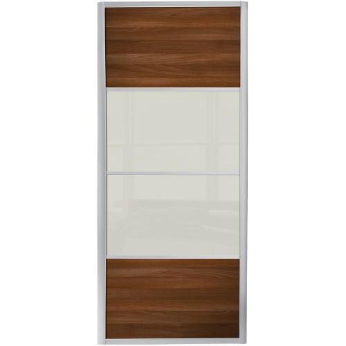 Ellipse 4 Panel - Walnut Soft White Glass