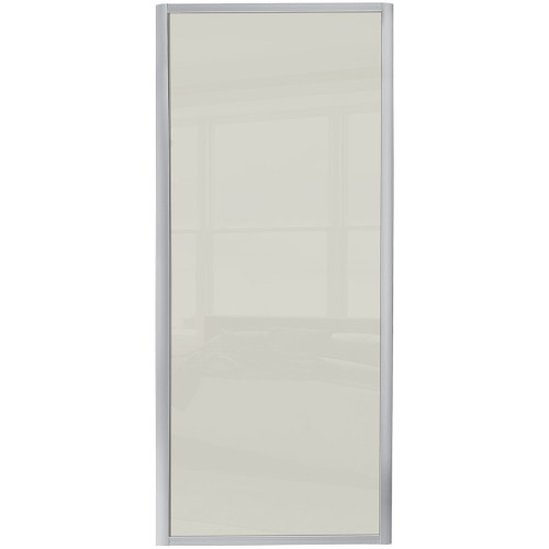 Ellipse Single Panel - Soft White Glass