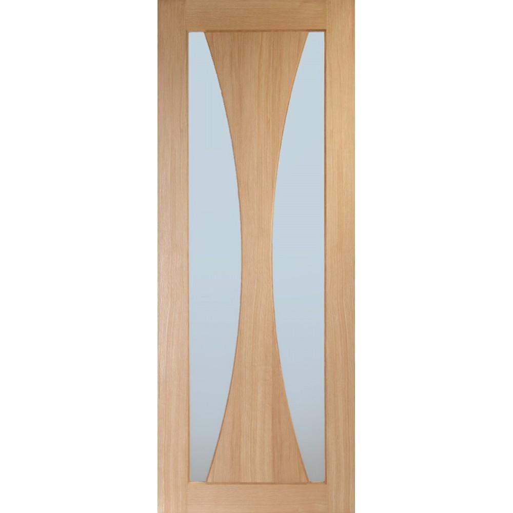 Verona Oak Door Obscure Glass