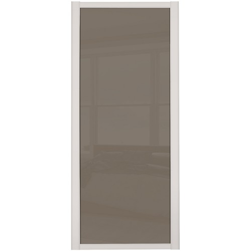 Shaker Single Panel - Cappucino Glass Cashmere Frame