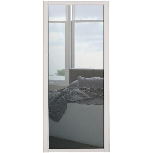 Shaker Single Panel - Mirrored Cashmere Frame