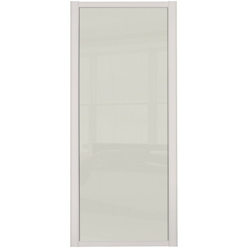 Shaker Single Panel - Arctic White Glass Cashmere Frame