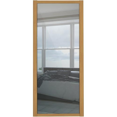 Shaker Single Panel - Mirrored Oak Frame