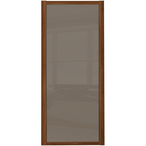 Shaker Single Panel - Cappucino Glass Walnut Frame