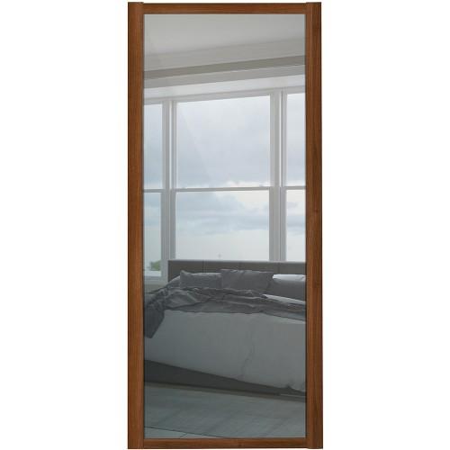 Shaker Single Panel - Mirrored Walnut Frame