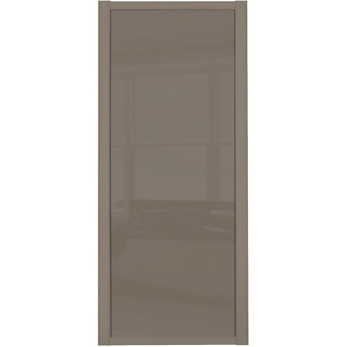 Shaker Single Panel - Cappucino Glass Cappucino  Frame