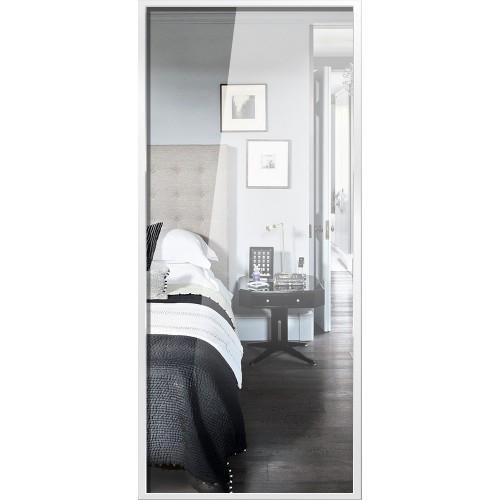 Standard Mirrored Sliding Door - White Frame