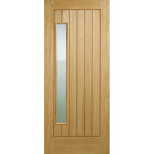 Newbury Oak External - Obscure Glass