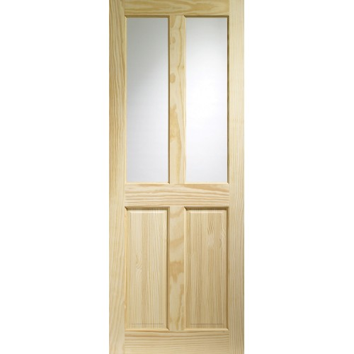 Victorian 4 Panel - Clear Glass Clear Pine