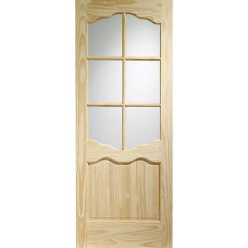 Riviera - Clear Glass Clear Pine