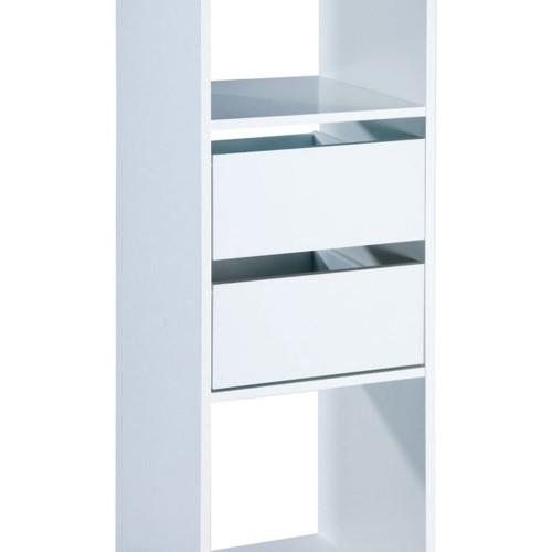 Wardrobe Twin Drawer Unit - White