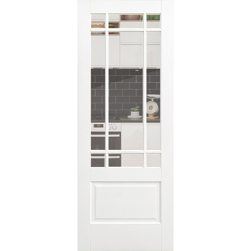 White Downham - Clear Glass  sc 1 st  Cornes DIY & White Downham - Clear Glass door